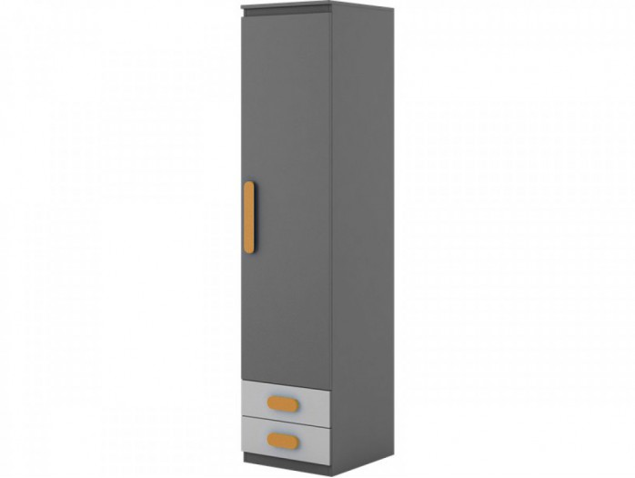 Schrank Play Anthrazit/Grau/Orange