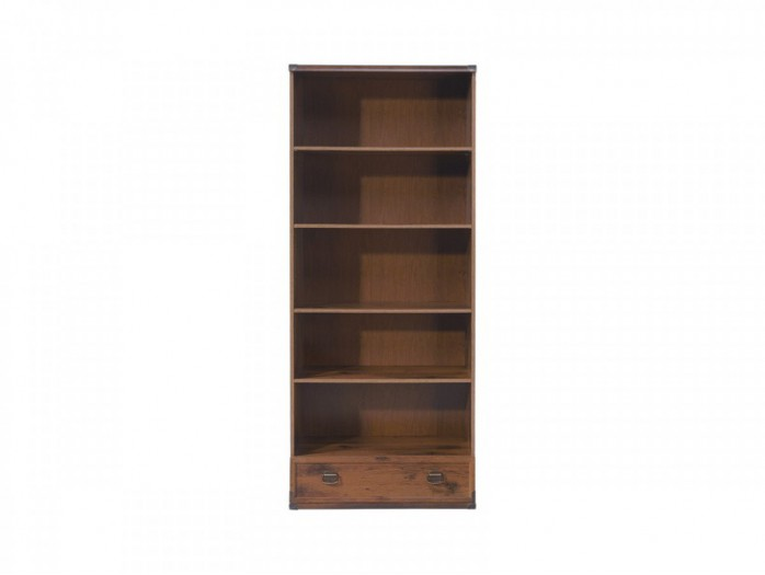 Bookcase with one drawer Indiana Oak