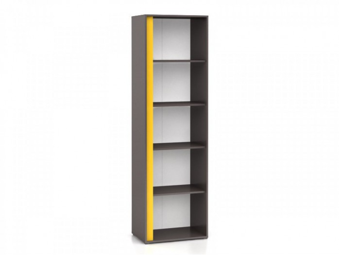 Bookshelf Right  Graphic REG / 57 Grey / Yellow