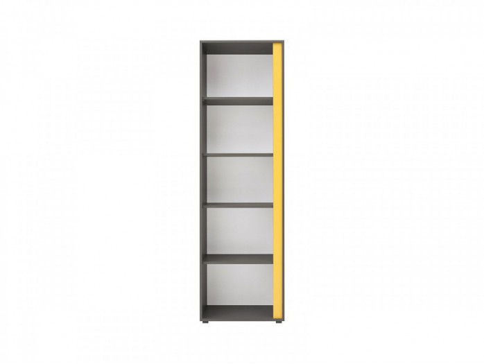 Bookshelf left  Graphic REG / 57 Grey / Yellow