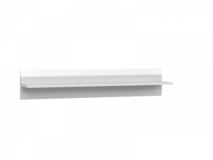 Azteca Shelf 105 cm white/white with gloss front