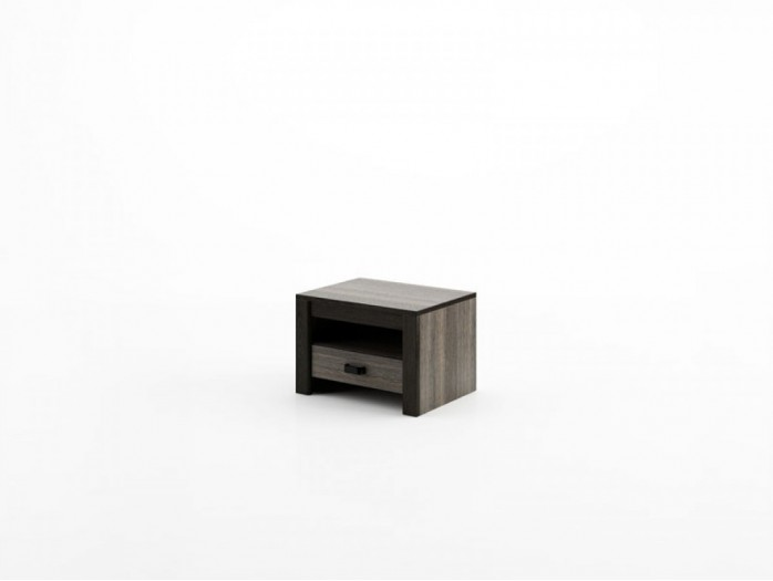 Nightstand Denver DN-18 Wenge Mali / black