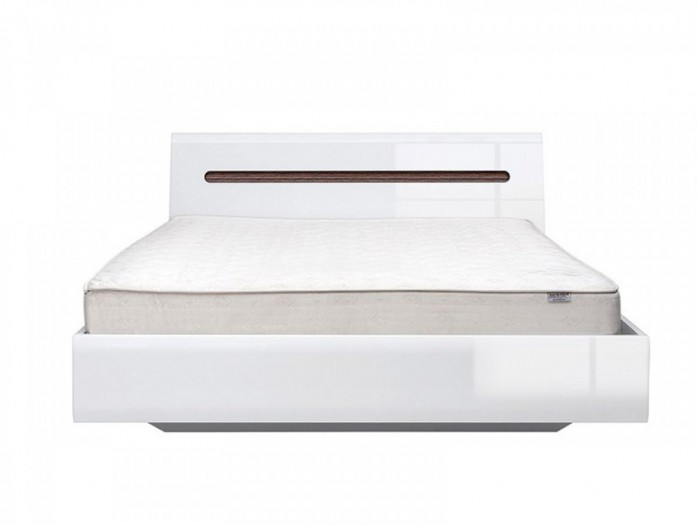 Platform double bed 160 cm Azteca White/White High gloss
