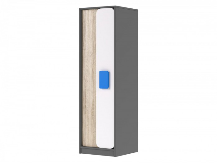 Cabinet Jogo in Grey / oak / White/ Blue