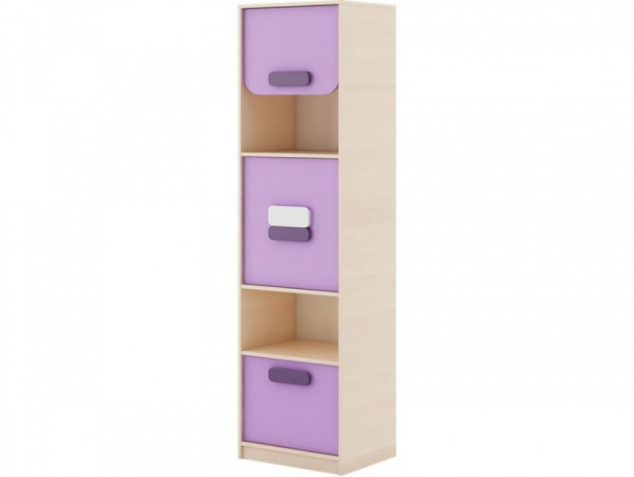 Highboard Gusto with  door and drawer Oak creme / Lavender