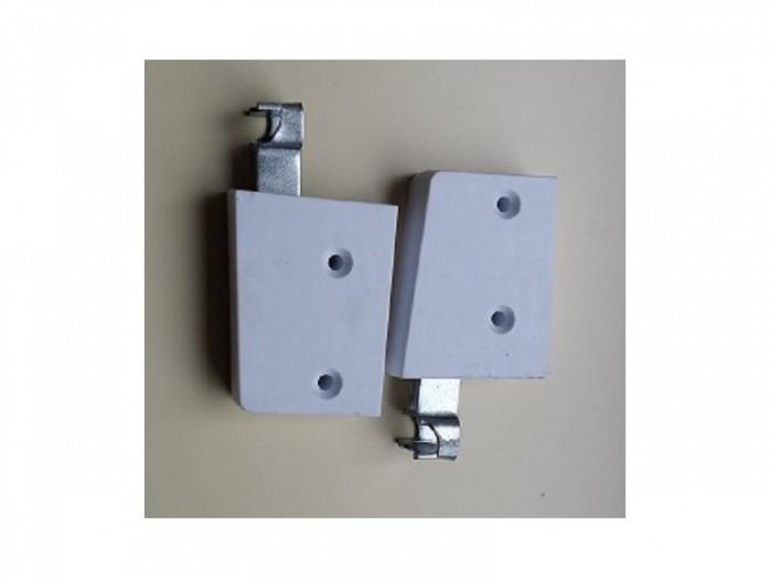 Schrankaufhänger Tragkraft 100 Kg/Paar Weiß