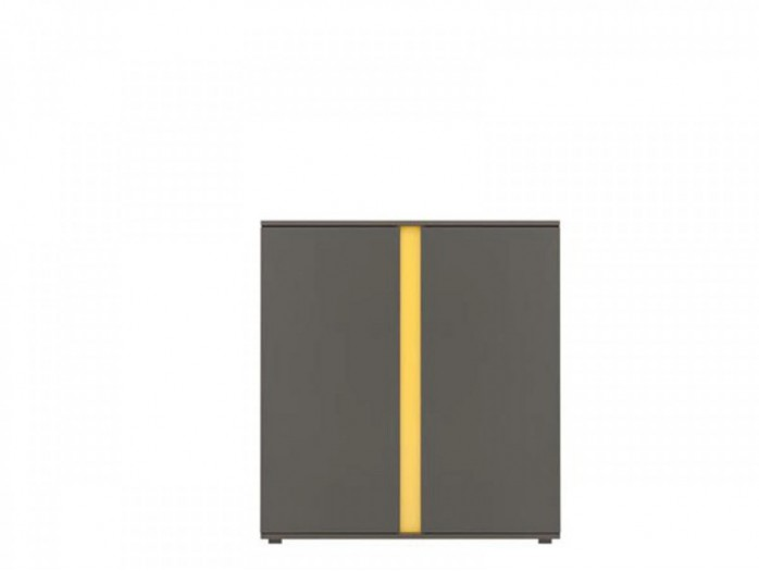 Standing cabinet with 2 doors  Grey / Yellow