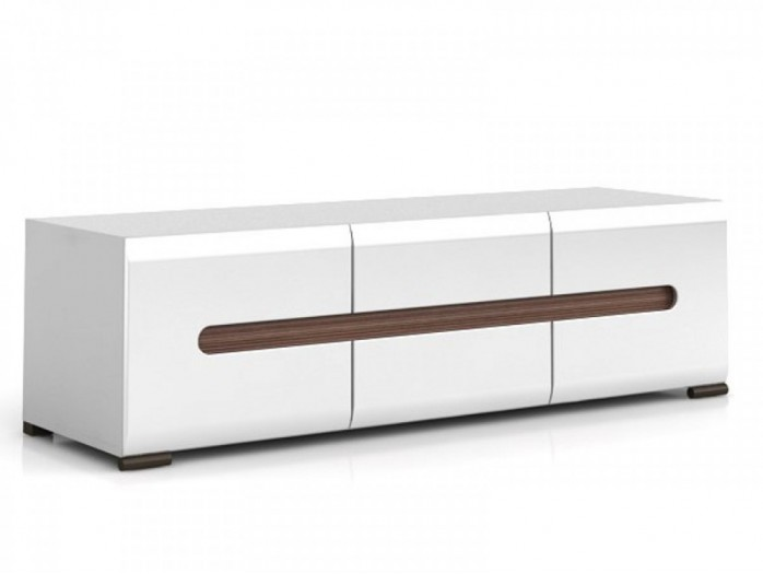 TV Cabinet white/white with gloss front