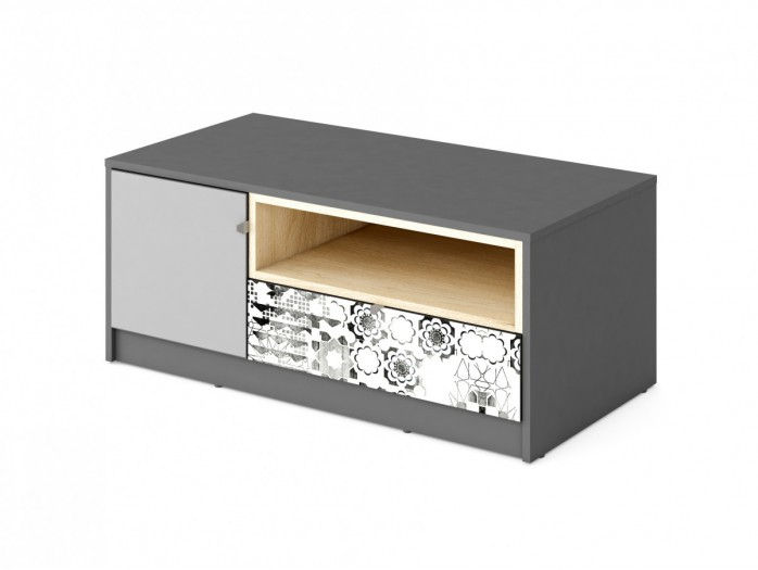 TV cabinet POKO  Anthracite / light gray