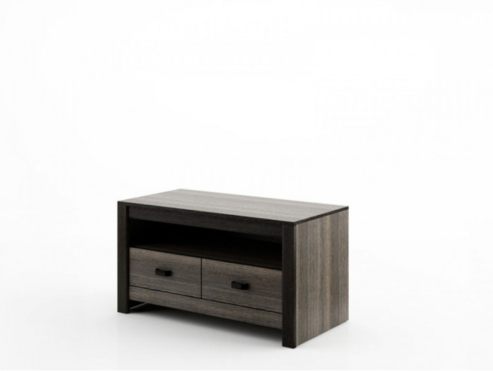 TV Cabinet with 2 Drawers DN-11 Wenge Mali / black.