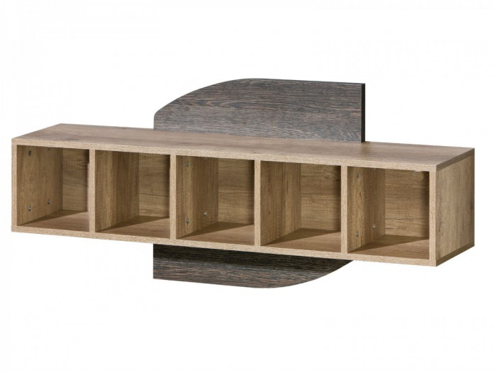 Wandregal Romero horizontal,  Eiche Canyon/Arusha Wenge