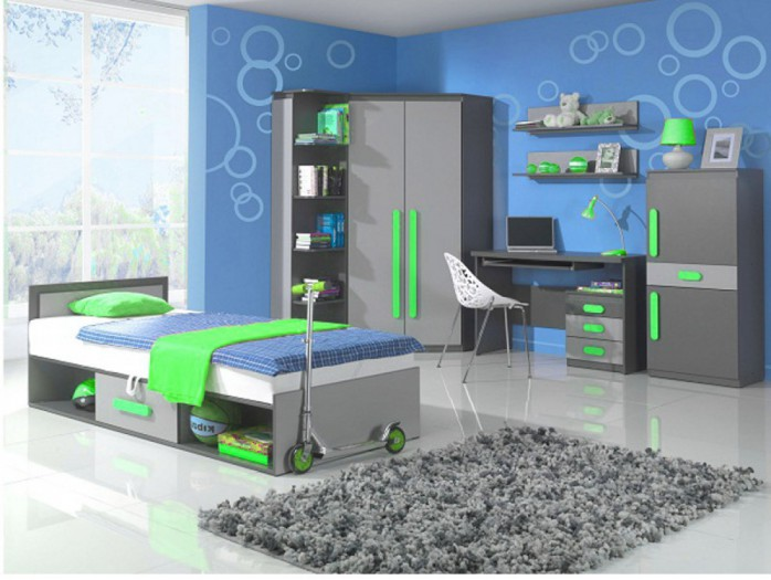 Youth Room PLAY 03 Anthracite / Grey / Green