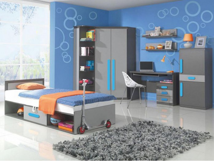 Youth Room PLAY 03 Anthracite / Grey / Turquoise