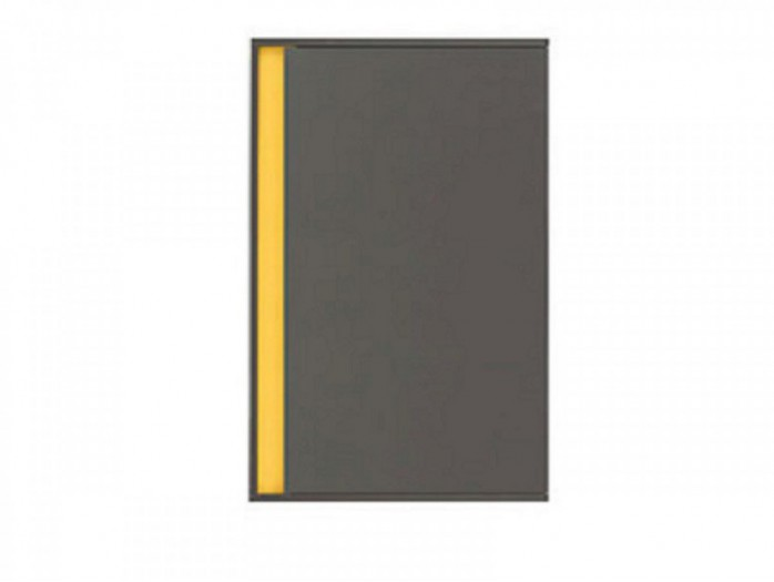 Cabinet  with a right  door Grey / yellow