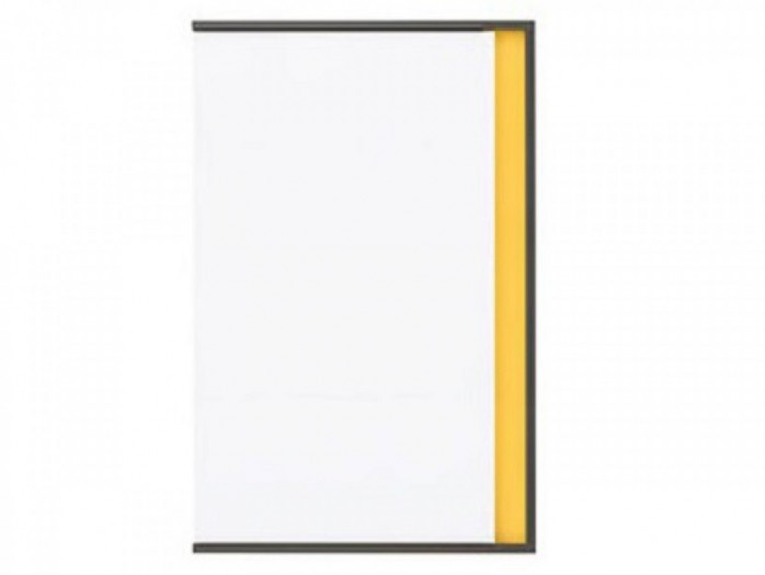 Cabinet with 1 door Left Grey/ White / Yellow