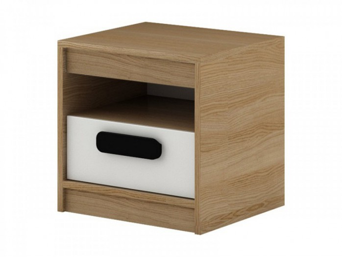 Bedside Gusto with drawer  Natur oak / white