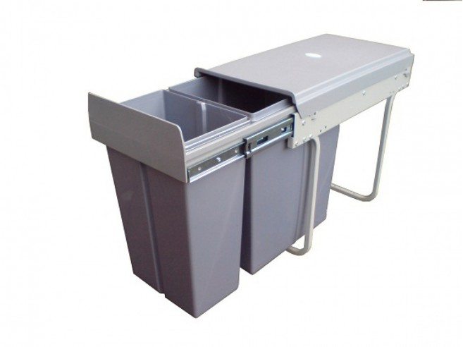 Waste collector bin 603- 30L with 2-fold separation