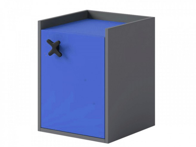 Container IKS mit 1 Tür Anthrazit/Royal Blau