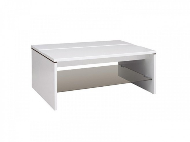 Coffee Table Azteca white/white with gloss front