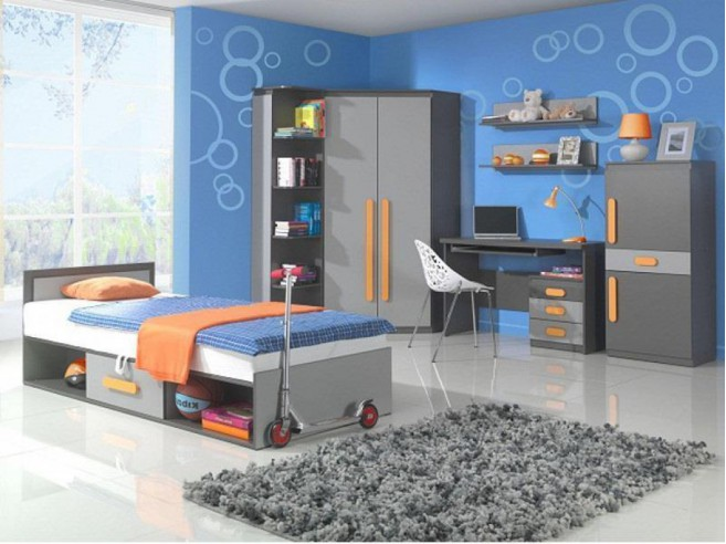 Childs bed Play Anthracite / Grey/ Orange