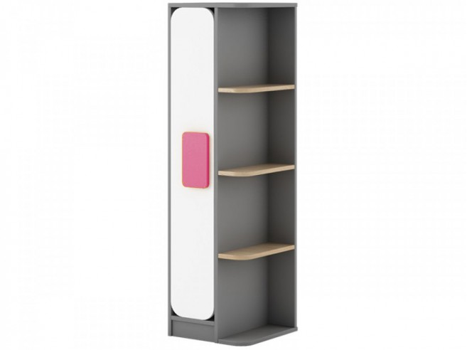 Youth Room JOGO.02 (7 pcs) Gray / oak / White / Pink