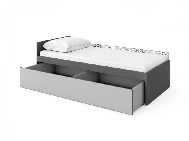 jugendbett poko inkl matratze anthrazit hellgrau 371 95. Black Bedroom Furniture Sets. Home Design Ideas