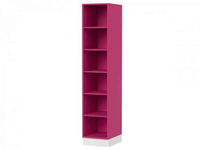 Modern Youth Room Yeti.02 (10tlg.) White/ White Glossy/ Pink