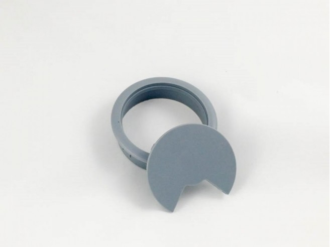Cable connector grommet 80 mm gray