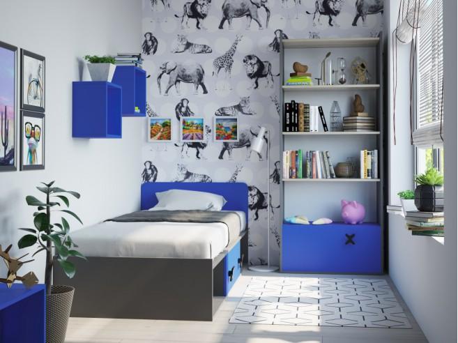 jugendzimmer f r m dchen jungen iks 05 4 tlg anthr. Black Bedroom Furniture Sets. Home Design Ideas