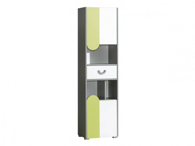 b cherschrank futuro mit 2 t ren und 1 schublade gr n. Black Bedroom Furniture Sets. Home Design Ideas