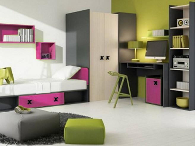 jugendzimmer f r m dchen jungen iks 01 7 tlg links. Black Bedroom Furniture Sets. Home Design Ideas