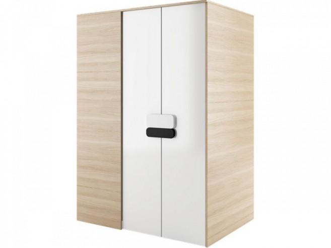 begehbarer kleiderschrank gusto rechts 130 cm eiche natur wei. Black Bedroom Furniture Sets. Home Design Ideas