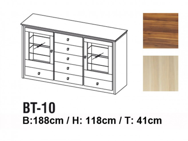 Dresser with 2 doors and 7 drawers BT-10
