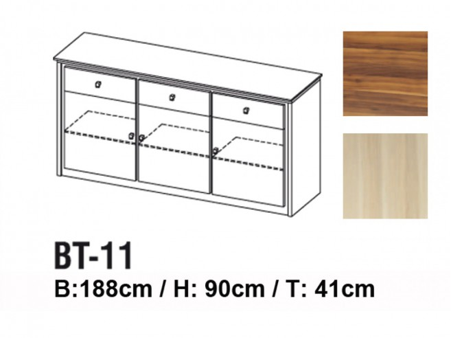 Dresser BT-11 with 3 doors and 3 drawers
