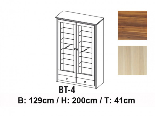 Cabinet with 2 doors and 2 drawers