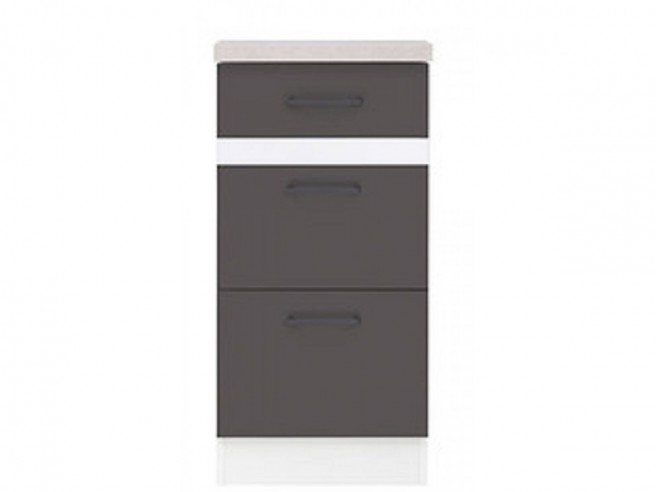 Base cabinet 40 cm with 3 drawers