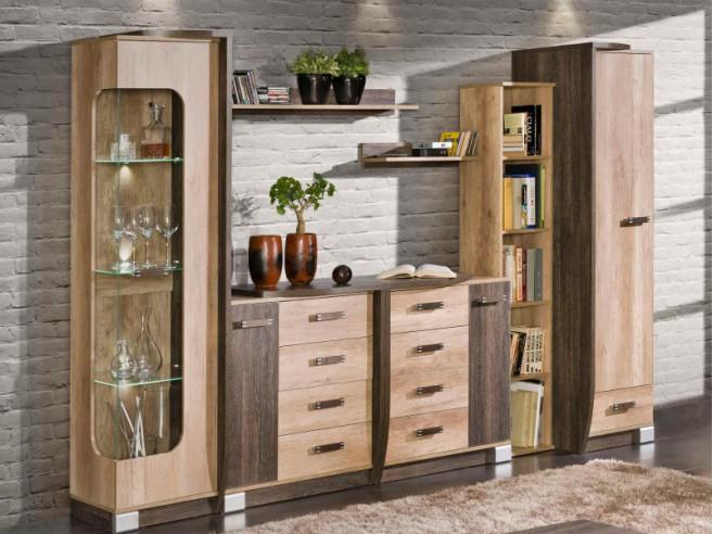wohnwand set die neuesten innenarchitekturideen. Black Bedroom Furniture Sets. Home Design Ideas