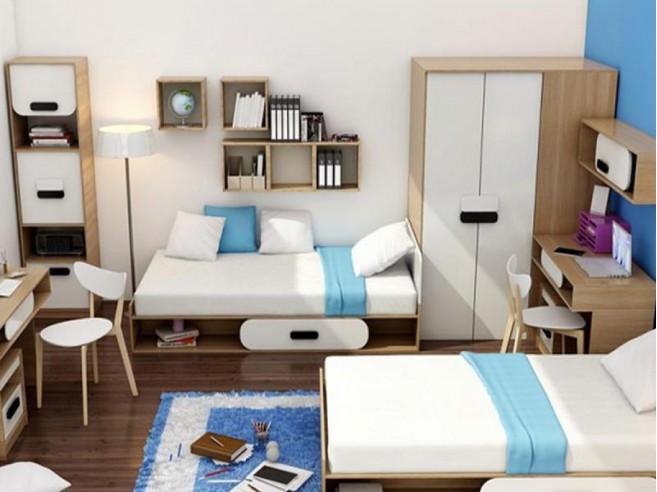 jugendzimmer komplett set gusto 07 6 tlg eiche natur. Black Bedroom Furniture Sets. Home Design Ideas