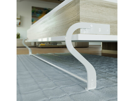 Folding wall bed 160cm Vertical Oak Sonoma/  White High...