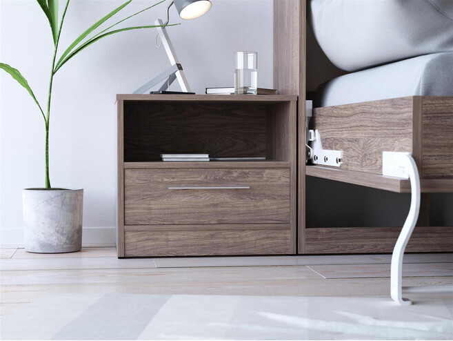 SMART bedside table with drawer Walnut