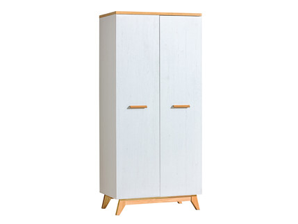 Wardrobe SV1 SVEN pine white / natural oak