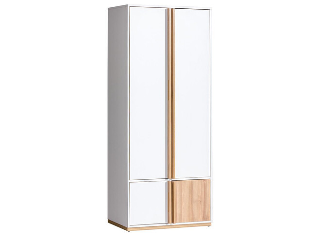 Wardrobe Wardrobe Living room cabinet E1 EVADO 80cm white / walnut
