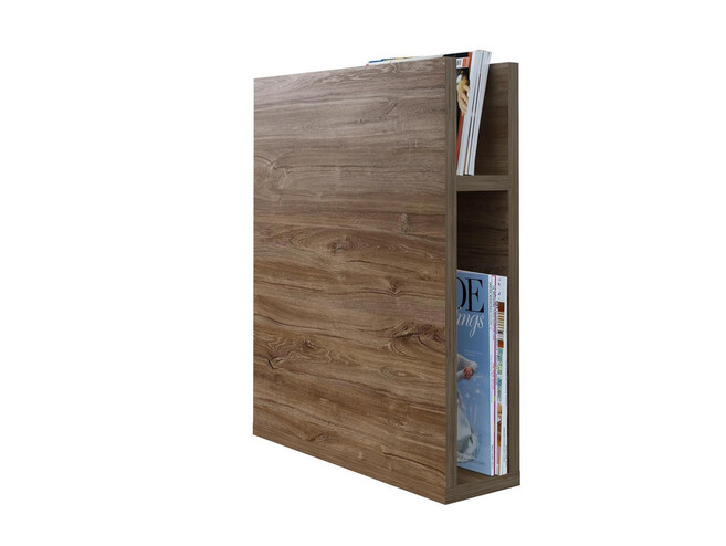 Magazine shelf Walnut  Smartbett books tray