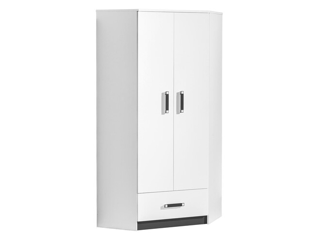 Wardrobe Trapiko with two doors and 1 drawer White / Grey, 296,95 €