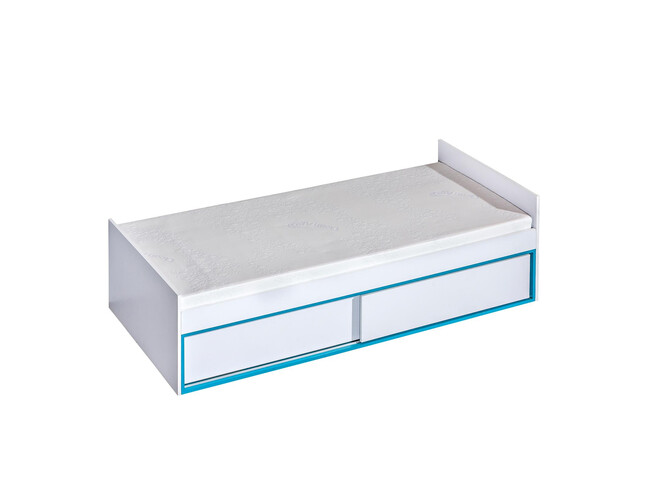 Cot/child bed Trapiko TR13 with four compartments and two sliding doors in front