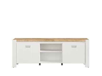 TV cabinet hi-fi cabinet white / oak Westminster