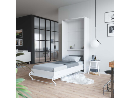 Folding wall bed SMARTBett Standard 90x200 Vertical White...
