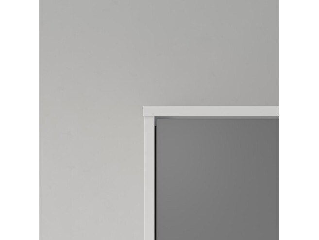 SMARTBett Folding wall bed Standard 140x200 Vertical White/Anthracite with Gas pressure Springs