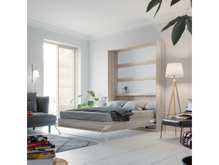 SMARTBett Folding wall bed Standard 140x200 Vertical Oak...