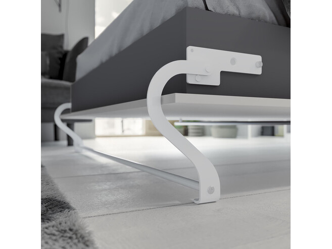 SMARTBett Folding wall bed Standard 140x200 Vertical Oak Sonoma/White with Gas pressure Springs